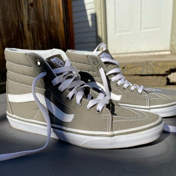 Vans Shoes | Dark Green High Top Vans
